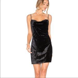 Bardot Black Velvet Dress